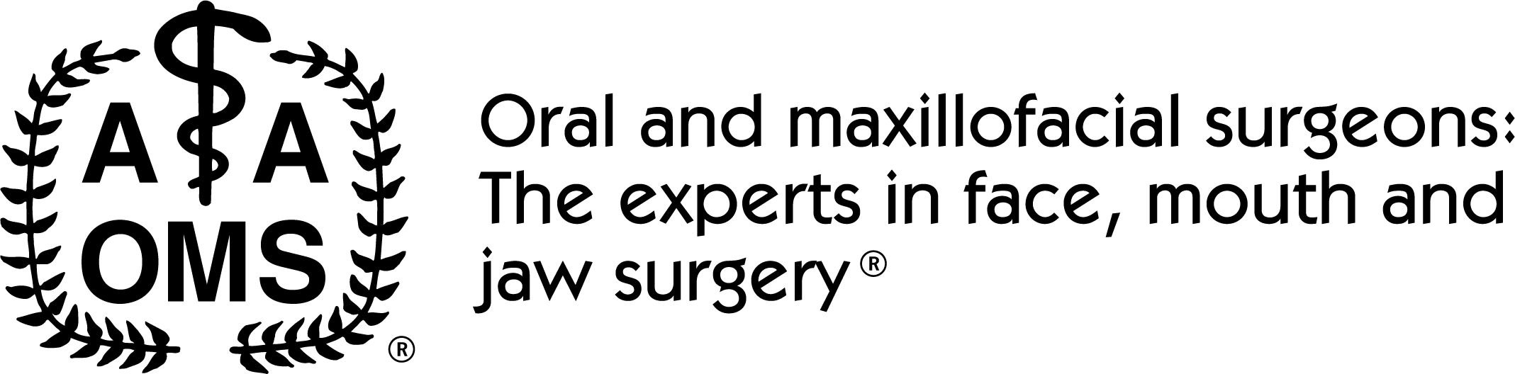 American Association of Oral & Maxillofacial Surgeons Logo and Tagline
