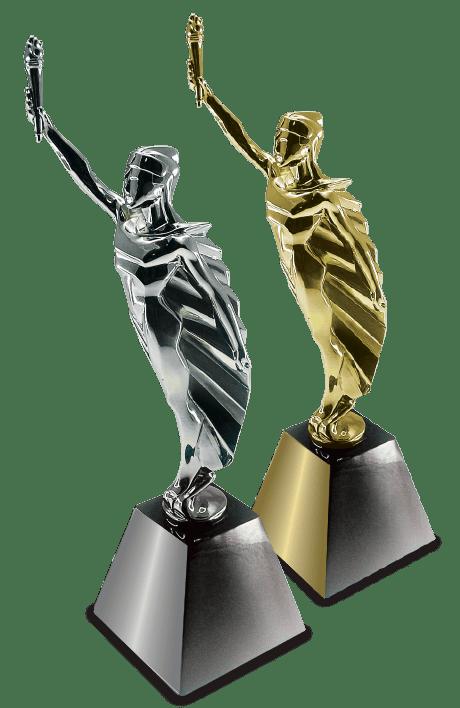 MarCom Award Statuettes